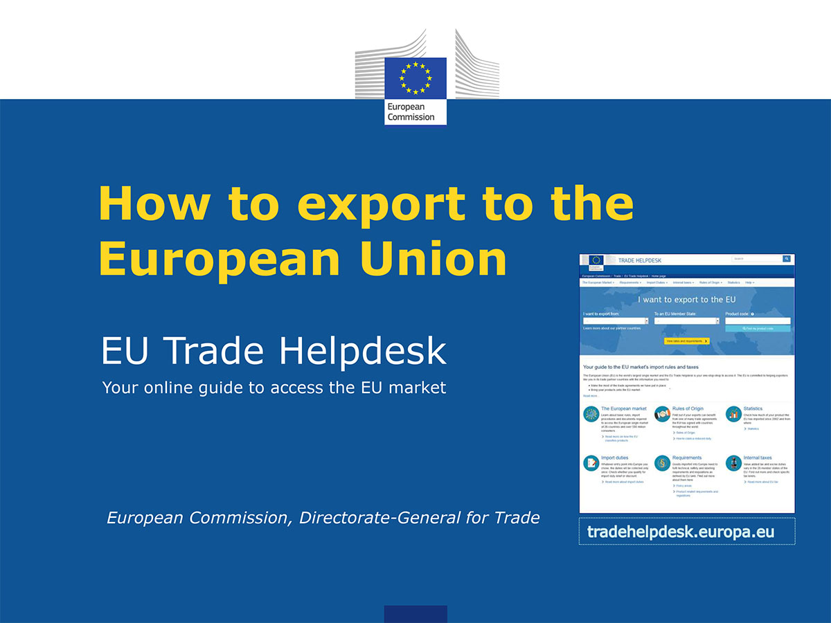 How to export to the European Union - EU Trade Helpdesk