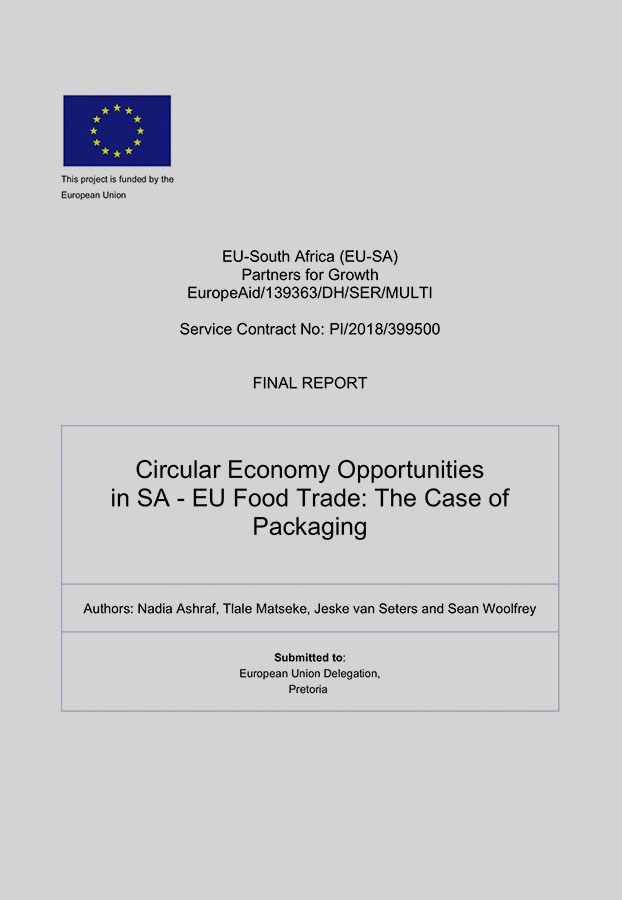 Circular Economy Opportunities in SA - EU Food Trade: The Case of Packaging