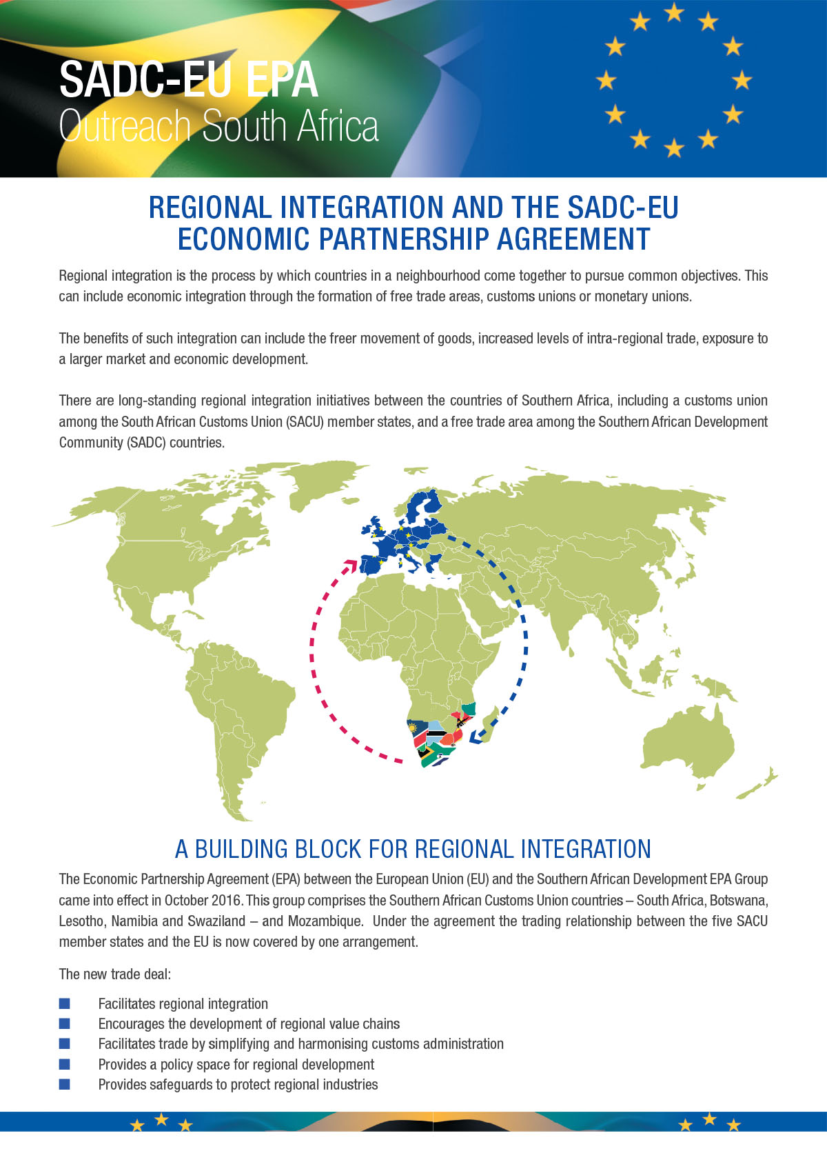 Sadc Eu Epa Outreach Regional Integration And The Sadc Eu Epa
