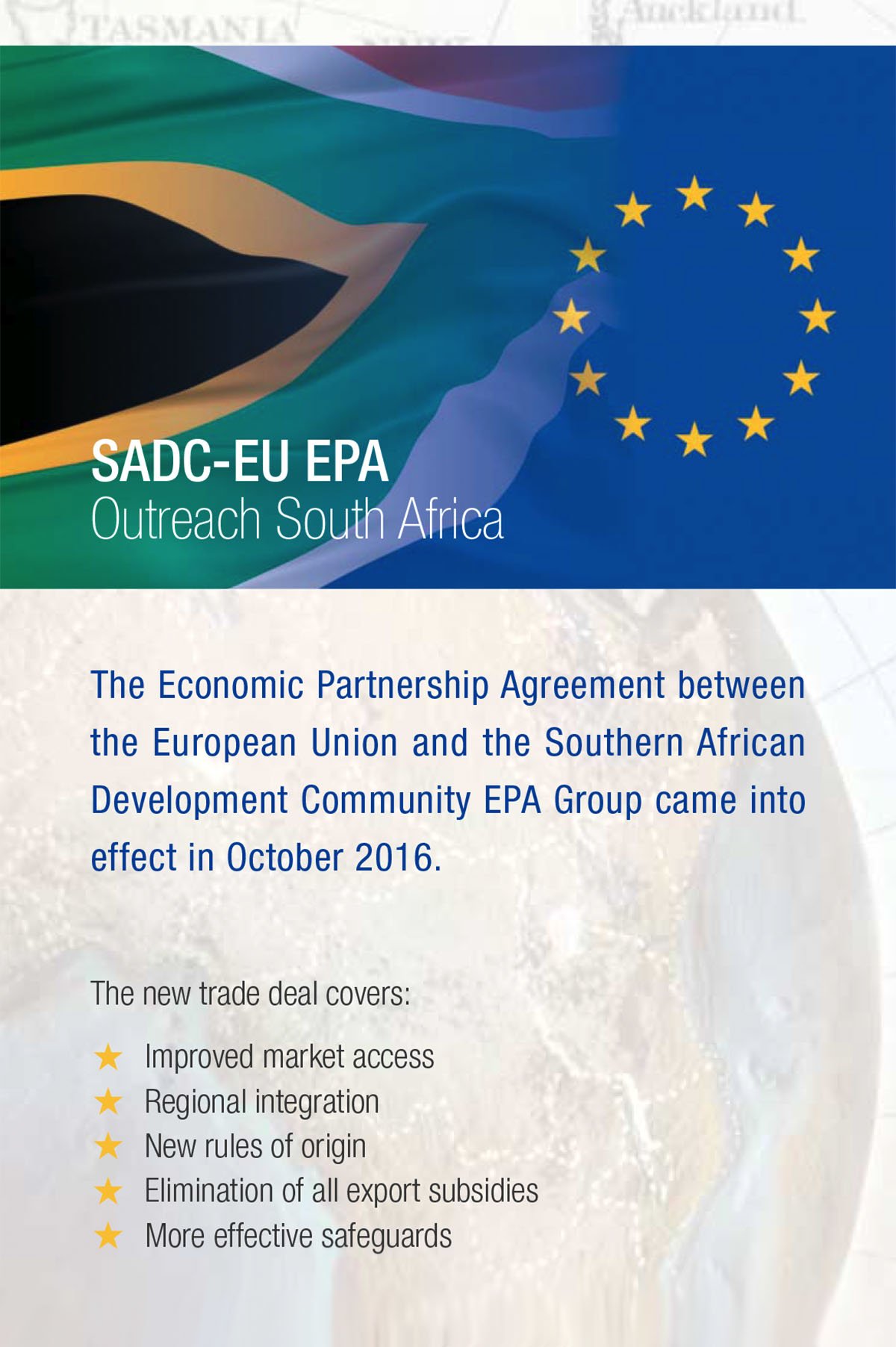 SADC-EU EPA Outreach South Africa - Fold-out Brochure