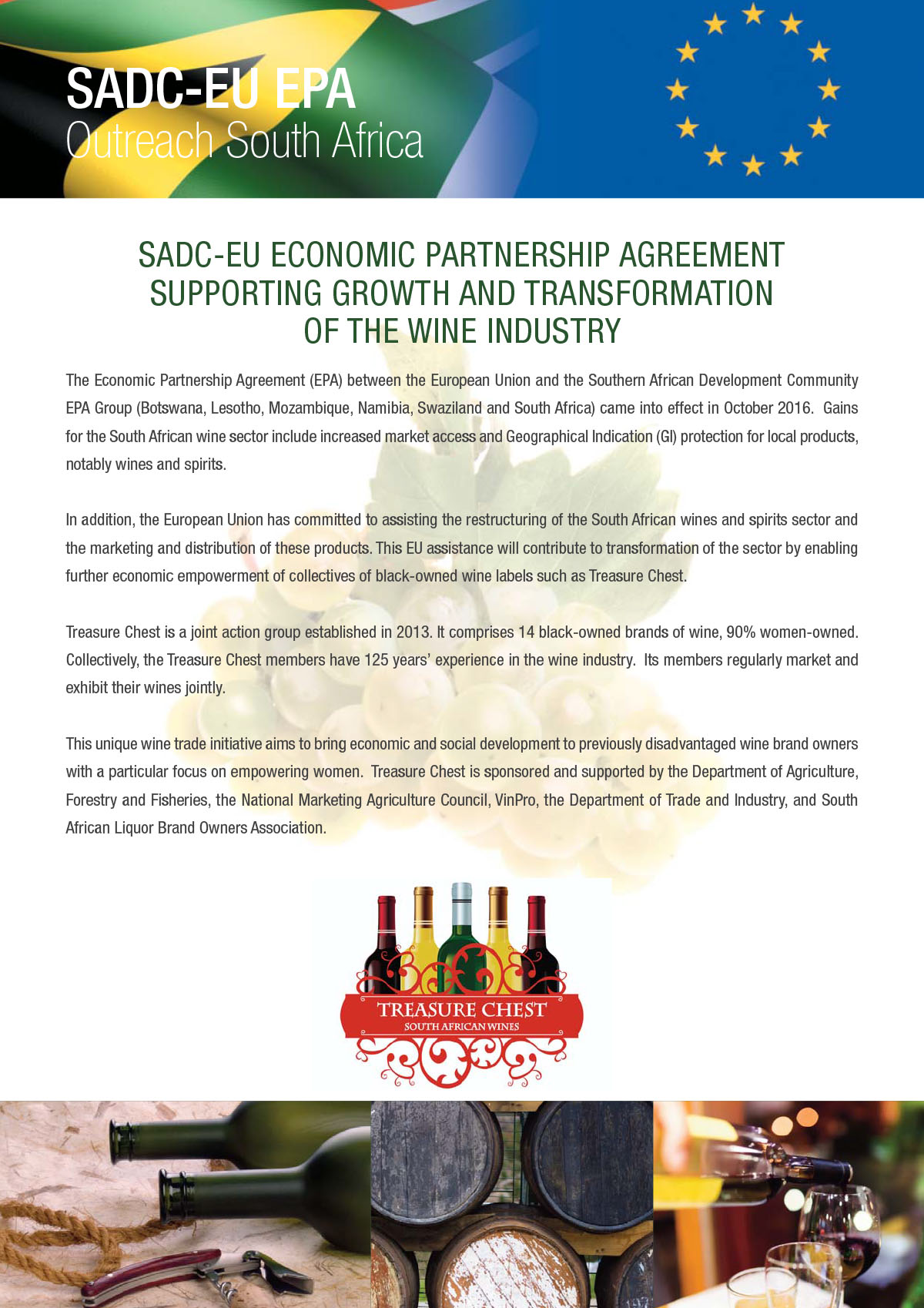 The wine industry and the SACD-EU EPA