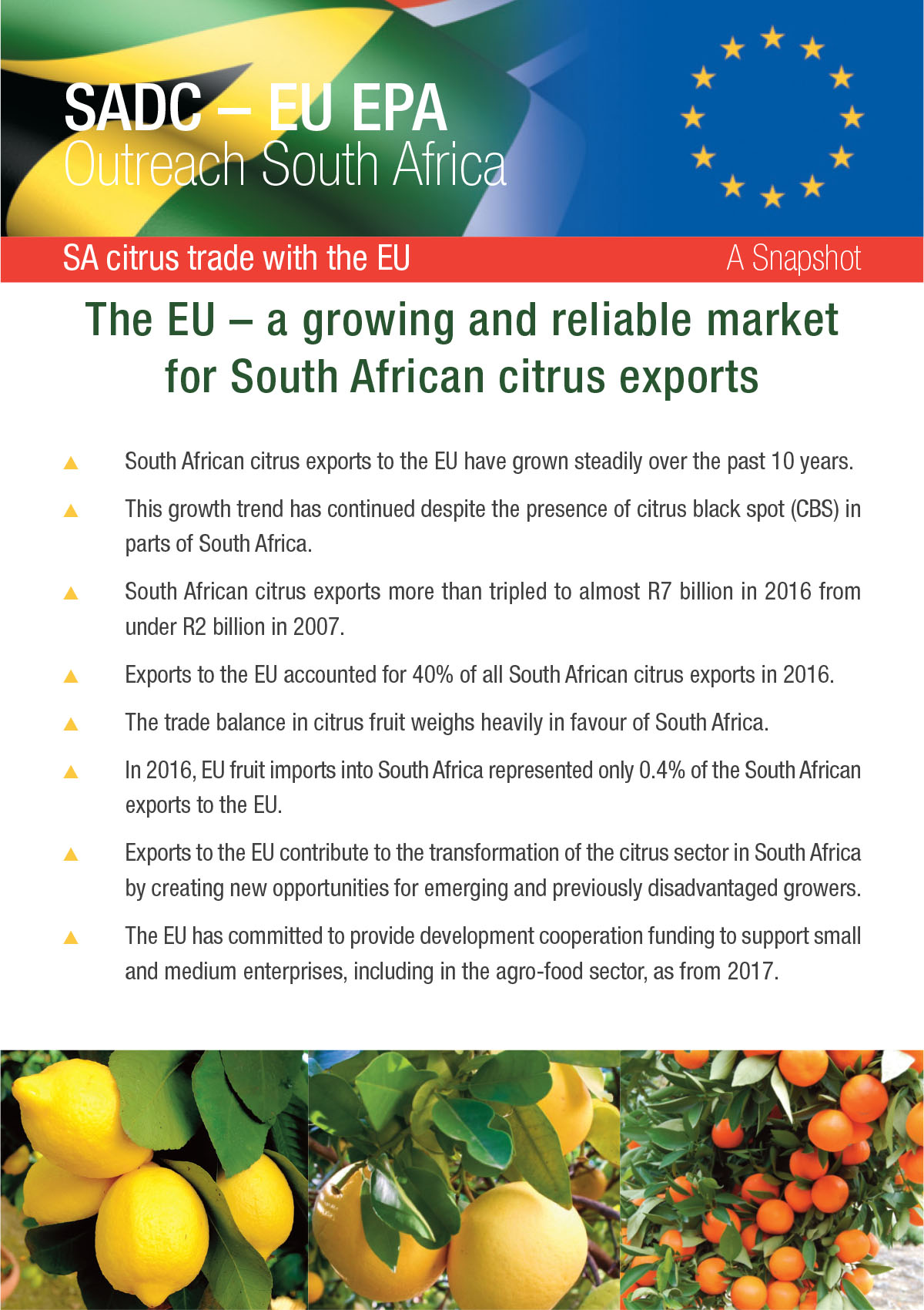 Citrus trade with the EU - A snapshot
